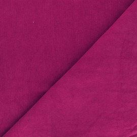 Tissu velours milleraies washé Infinité - fuchsia x 10cm