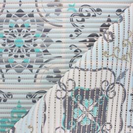 Tapis mousse PVC anti-dérapant Carreaux de Ciment - bleu x 10cm