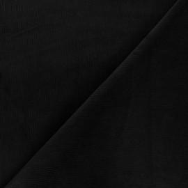 Tissu velours milleraies washé Infinité - noir x 10cm
