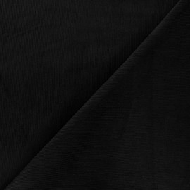 Washed milleraies velvet fabric - black Infinité x 10cm