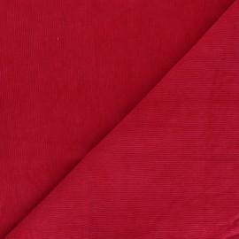 Tissu velours milleraies washé Infinité - rouge x 10cm