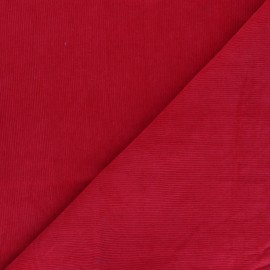 Washed milleraies velvet fabric - red Infinité x 10cm