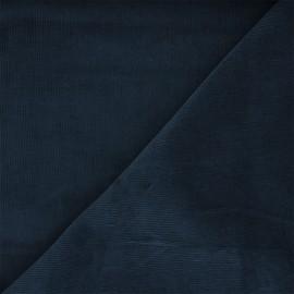 Washed-out milleraies velvet fabric - blue cobalt Infinité x 10cm