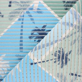Tapis mousse PVC anti-dérapant Florida - bleu x 10cm