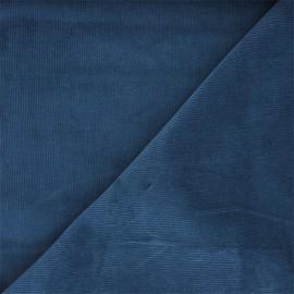 Tissu velours milleraies washé Infinité - bleu houle x 10cm