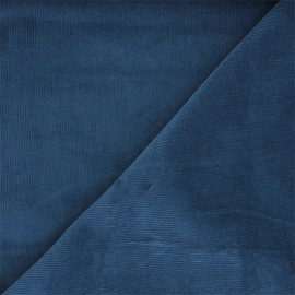 Washed-out milleraies velvet fabric - swell blue Infinité x 10cm