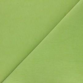 Tissu velours milleraies washé Infinité - vert lime x 10cm