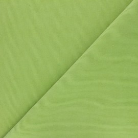 Washed-out milleraies velvet fabric - lime green Infinité x 10cm