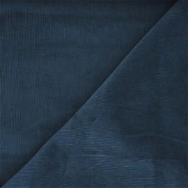 Washed milleraies velvet fabric - steel blue Infinité x 10cm