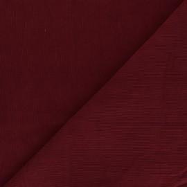 Tissu velours milleraies washé Infinité - rouge cardinal x 10cm