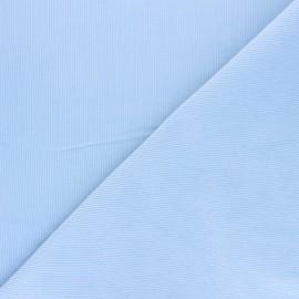 Tissu velours milleraies washé Infinité - bleu ciel x 10cm