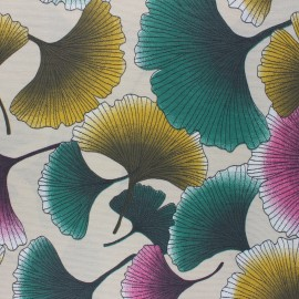 Tissu polycoton enduit mat Biloba - sable x 10cm