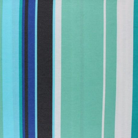 Matte coated Polycotton fabric - green Donosti x 10cm