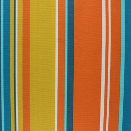 Matte coated Polycotton fabric - orange Donosti x 10cm