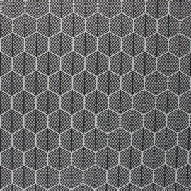 Tissu polycoton enduit mat Ravello - noir x 10cm