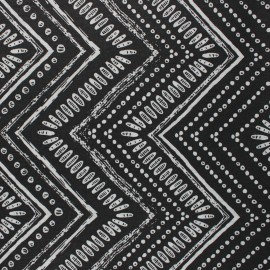Matte coated Polycotton fabric - black Gambia x 10cm