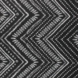 Tissu polycoton enduit mat Gambia - noir x 10cm