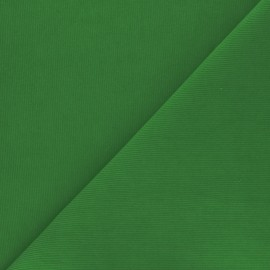 Tissu velours milleraies washé Infinité - vert gazon x 10cm