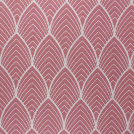 Matte coated Polycotton fabric - pink Matyn x 10cm