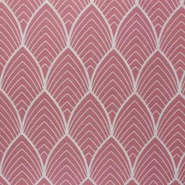 Tissu polycoton enduit mat Matyn - rose x 10cm