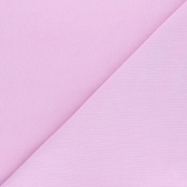 Washed-out milleraies velvet fabric - baby pink Infinité x 10cm