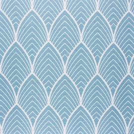 Matte coated Polycotton fabric - blue Matyn x 10cm