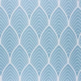Tissu polycoton enduit mat Matyn - bleu x 10cm