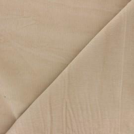 Tissu velours milleraies washé Infinité - beige x 10cm