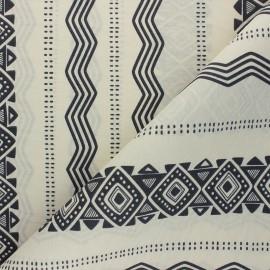 Tissu polycoton enduit mat Sahara - écru x 10cm