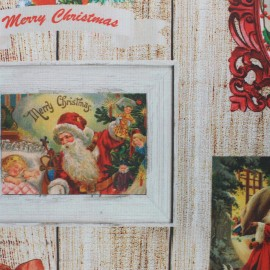 Tissu coton enduit Bright Christmas - multicolore x 63cm