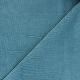 Tissu velours milleraies washé Infinité - bleu givré x 10cm