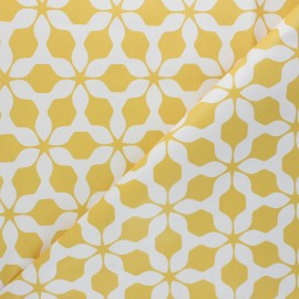 Oilcloth fabric - yellow Albi x 10cm
