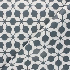 Tissu toile cirée Albi - gris anthracite x 10cm