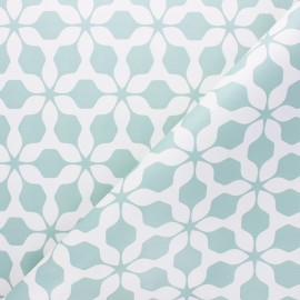 Tissu toile cirée Albi - céladon x 10cm