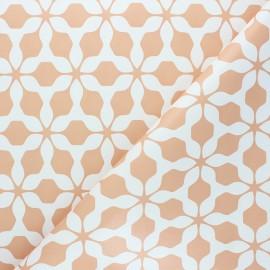 Oilcloth fabric - peach Albi x 10cm