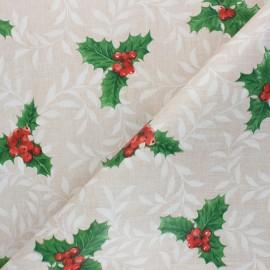 Oilcloth fabric - beige Houx x 10cm
