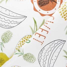 Tissu toile cirée Sweet Summer - vert x 10cm