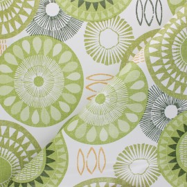 Tissu toile cirée Celio - vert x 10cm