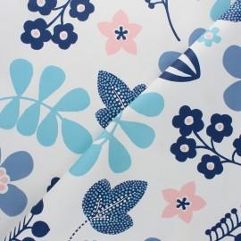 Tissu toile cirée Regina - bleu x 10cm
