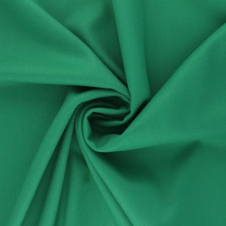 Tissu gabardine bambou uni - vert x 10 cm