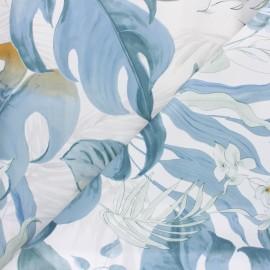 Tissu toile cirée Taiga - bleu x 10cm