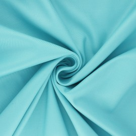 Plain gabardine bamboo fabric - blue x 10 cm