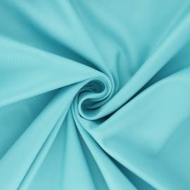 Tissu gabardine bambou uni - bleu x 10 cm