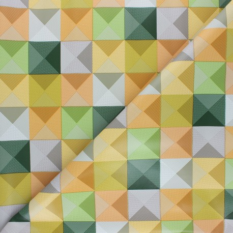 Tissu toile cirée Pyramide - multicolore x 10cm