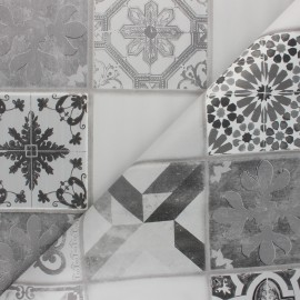 Tissu toile cirée Karodeko - gris x 10cm