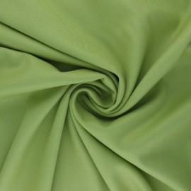 Tissu gabardine bambou uni - vert pistache x 10 cm
