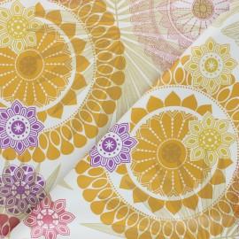 Tissu toile cirée Nacho - jaune x 50cm