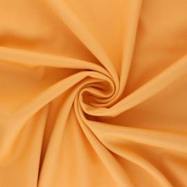 Tissu gabardine bambou uni - jaune safran x 10 cm
