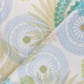 Tissu toile cirée Nacho - bleu x 50cm