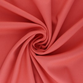 Tissu gabardine bambou uni - corail x 10 cm